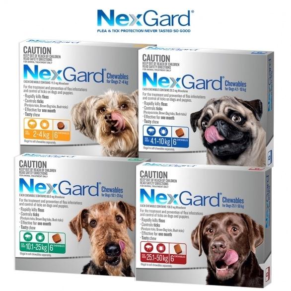 Four boxes of Nexgard.