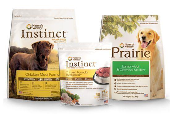Natures variety dog food